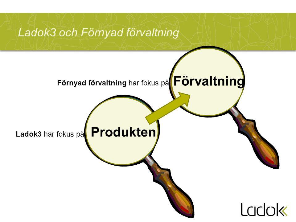 Ladok3 och Förnyad förvaltning Ladok3 har fokus på Produkten Förnyad förvaltning har fokus på Förvaltning