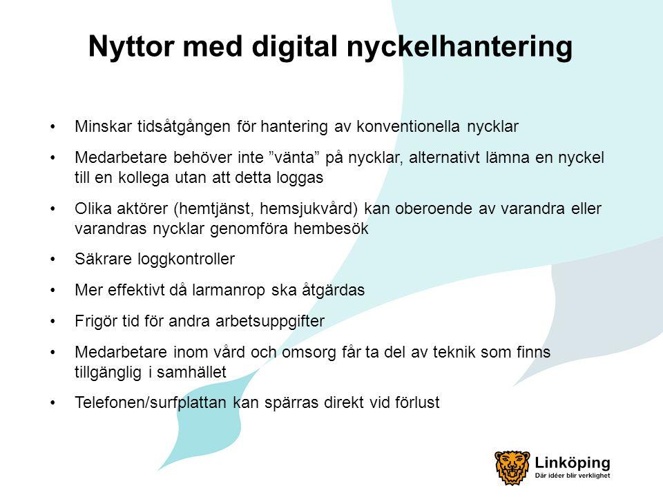 """Nyttor med digital nyckelhantering Minskar tidsåtgången för hantering av konventionella nycklar Medarbetare behöver inte """"vänta"""" på nycklar, alternati"""