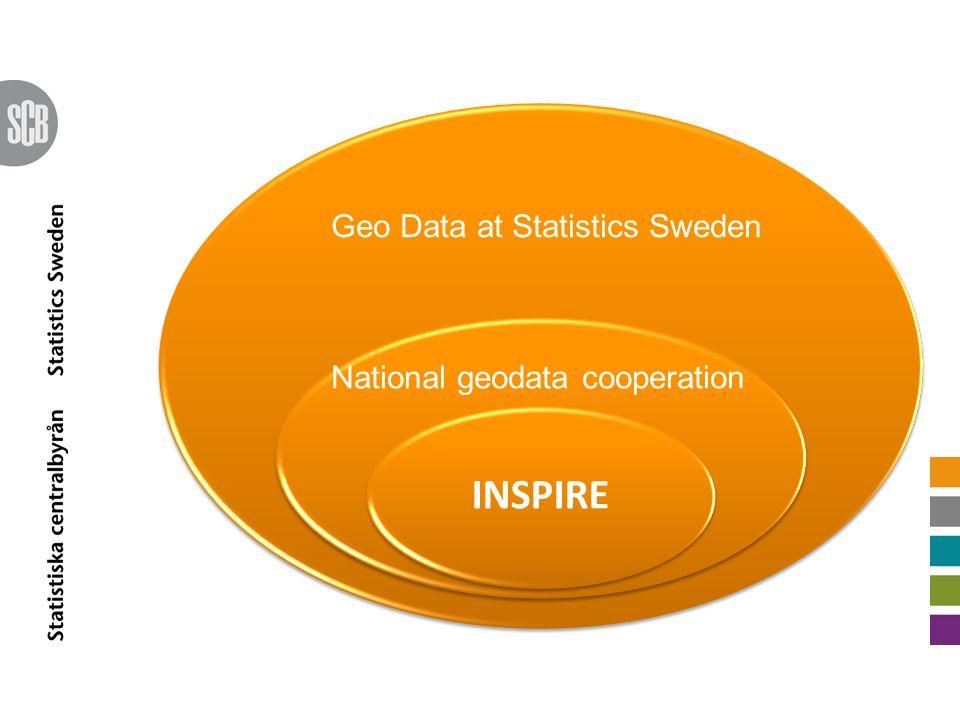 INSPIRE National geodata cooperation Geo Data at Statistics Sweden