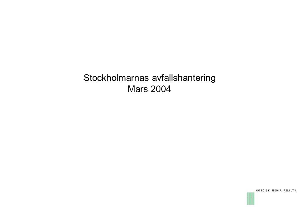 Stockholmarnas avfallshantering Mars 2004