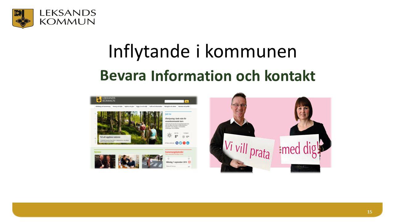 Inflytande i kommunen 15 Bevara Information och kontakt