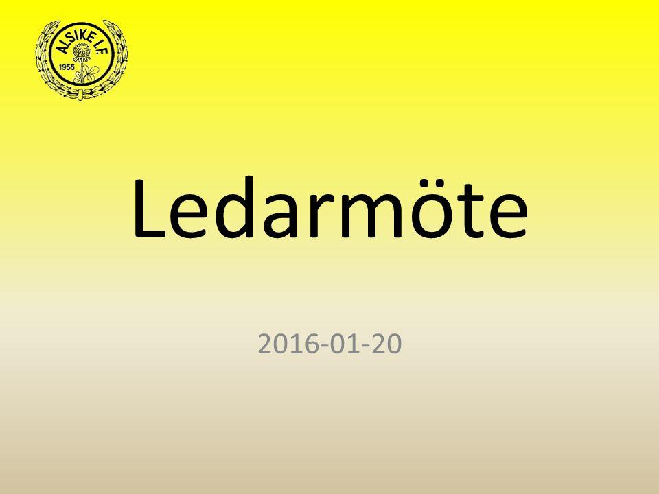 Ledarmöte 2016-01-20