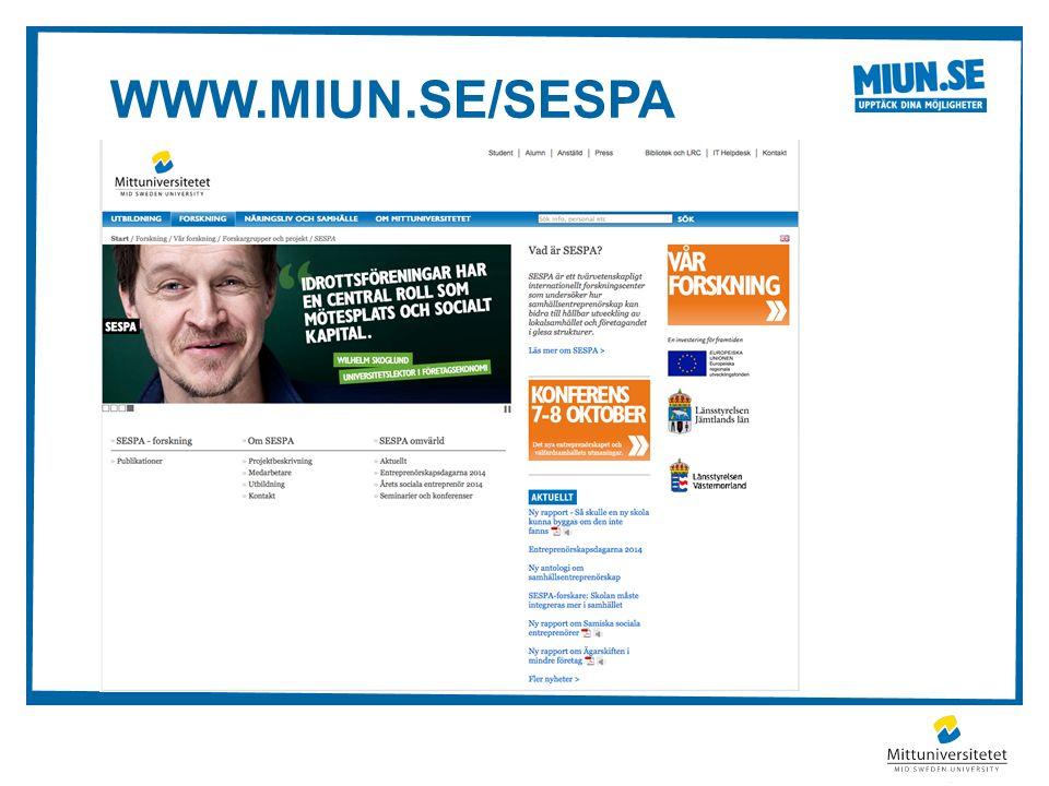 WWW.MIUN.SE/SESPA