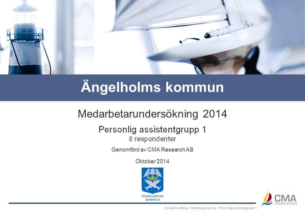 Genomförd av CMA Research AB Medarbetarundersökning 2014 Oktober 2014 Ängelholms kommun