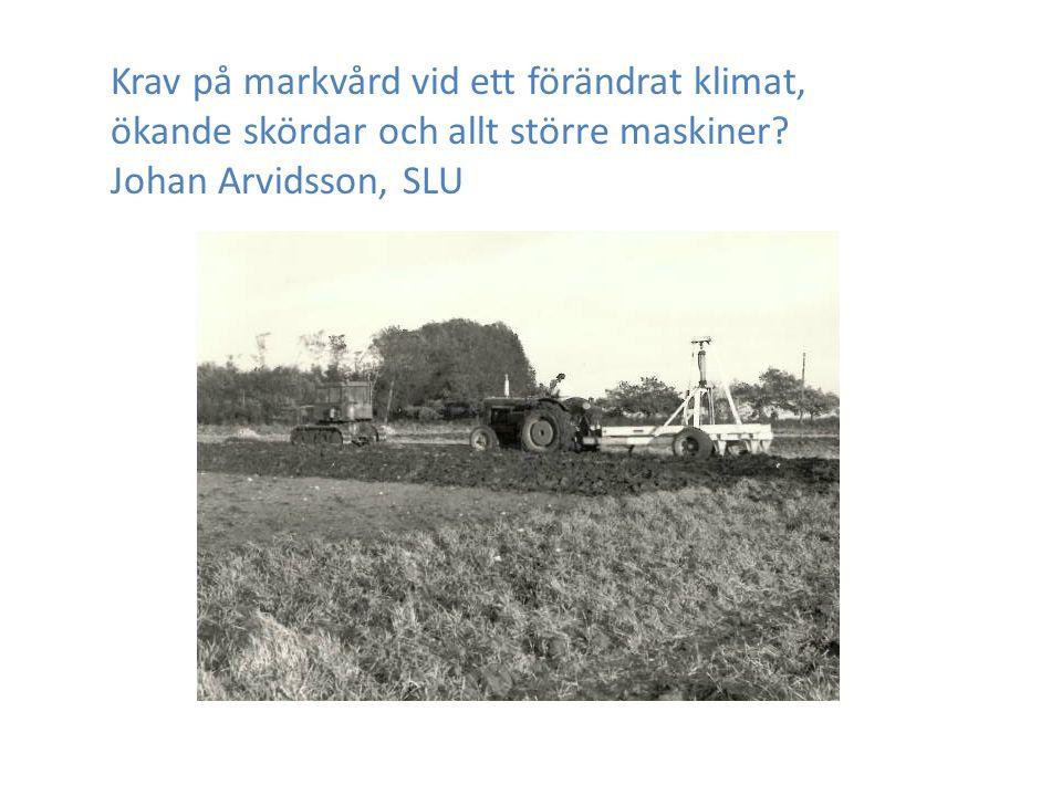 Krav på markvård vid ett förändrat klimat, ökande skördar och allt större maskiner.