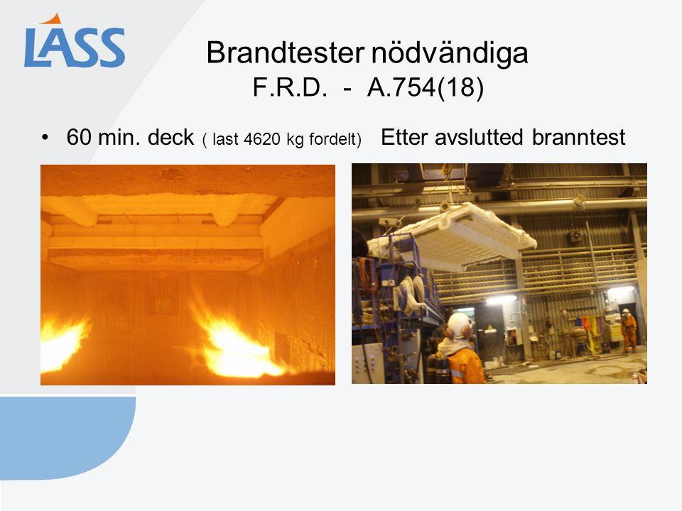 Brandtester nödvändiga F.R.D. - A.754(18) 60 min.