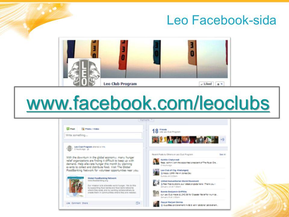 Leo Facebook-sida www.facebook.com/leoclubs