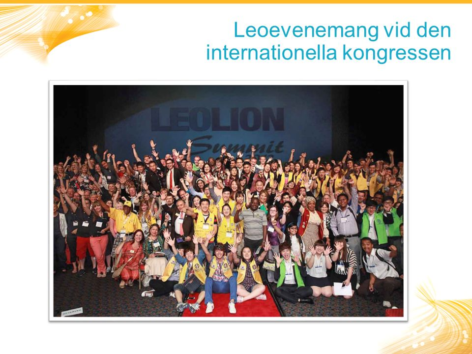 Leoevenemang vid den internationella kongressen