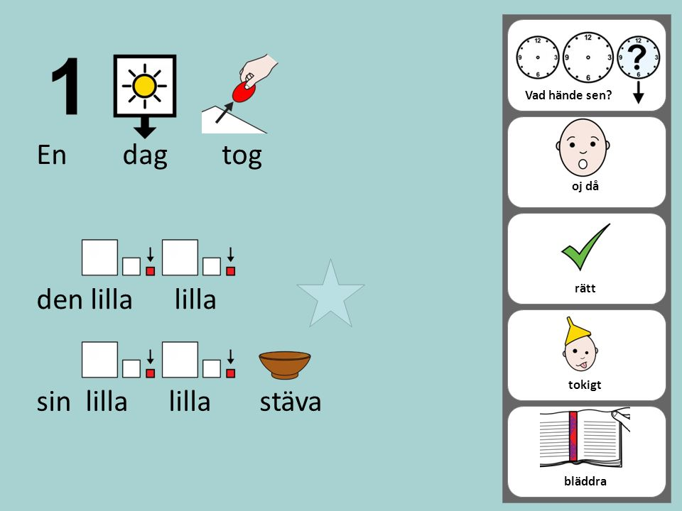 Tips på bilder som barnen kan välja mellan i sagan