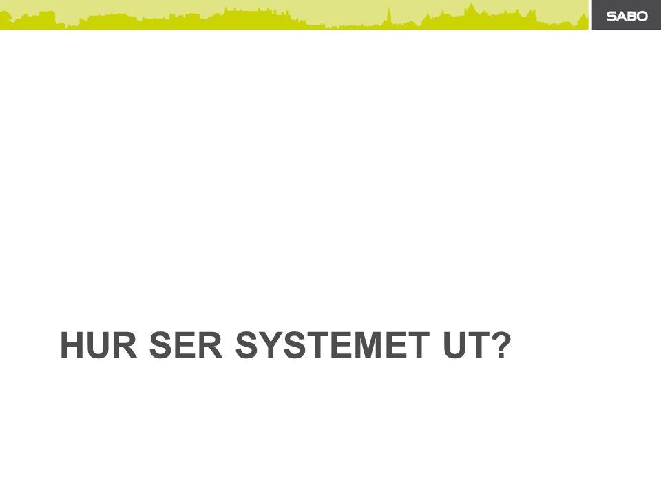 HUR SER SYSTEMET UT