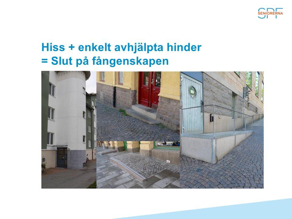 Hiss + enkelt avhjälpta hinder = Slut på fångenskapen