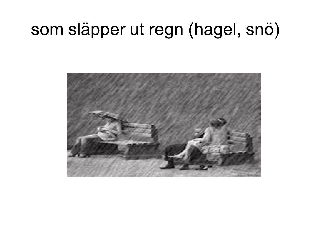 som släpper ut regn (hagel, snö)