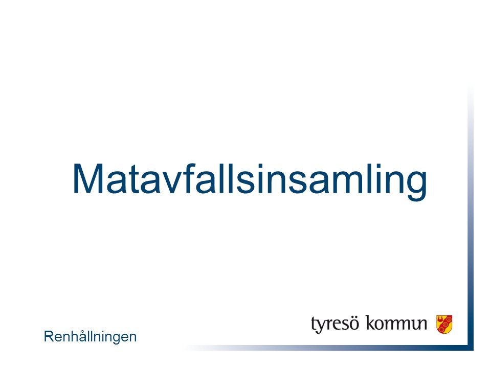  Nationellt mål – 50 procent av allt matavfall ska samlas in till år 2018  Över 200 kommuner i Sverige sorterar ut matavfall Illustration: Ulf Swerin