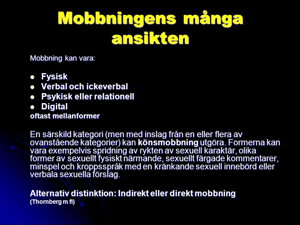 Digitala kränkningar 2000-talsfenomen: Har ökat mycket snabbt i frekvens - kännetecken och karaktäristika: Den förlängda skolgården Den förlängda skolgården Anonymiteten.