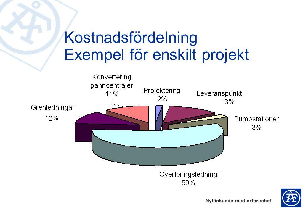 Kostnadsfördelning Exempel för enskilt projekt