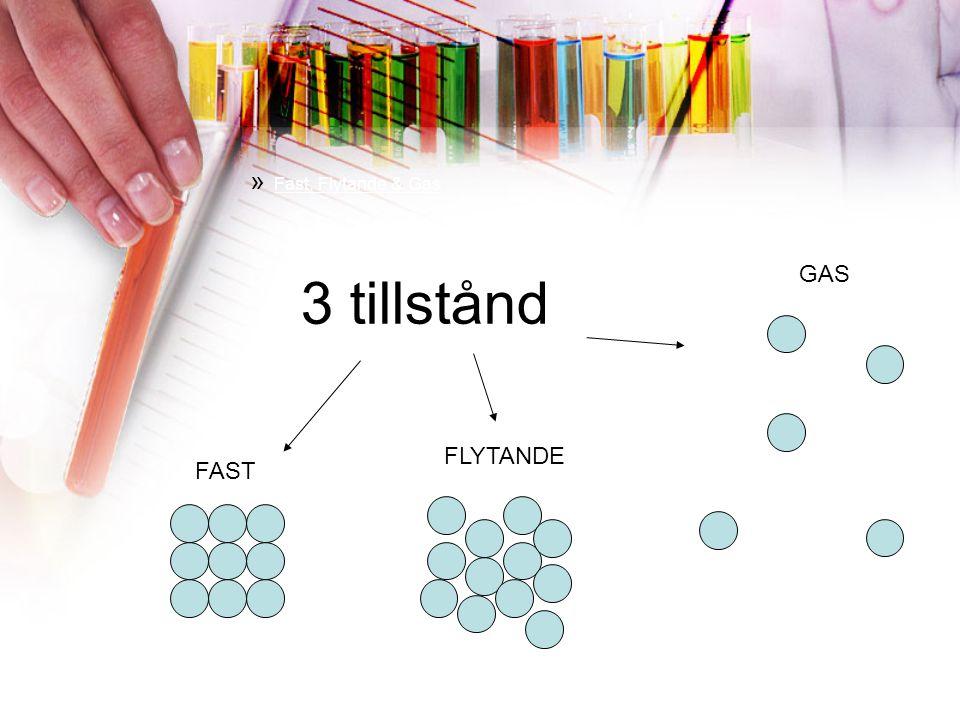» Fast, Flytande & Gas FAST FLYTANDE GAS 3 tillstånd
