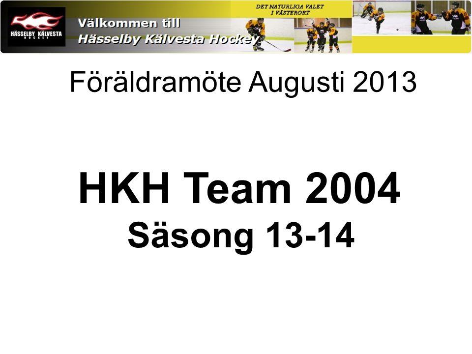 Föräldramöte Augusti 2013 HKH Team 2004 Säsong 13-14