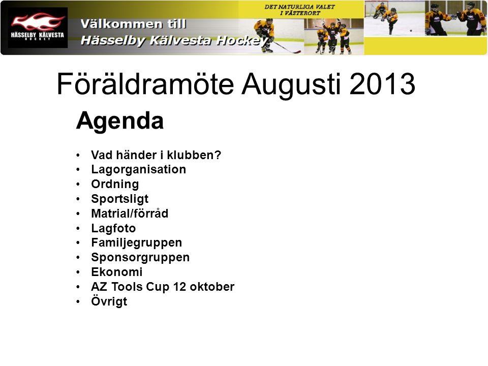 Föräldramöte Augusti 2013 Agenda Vad händer i klubben.