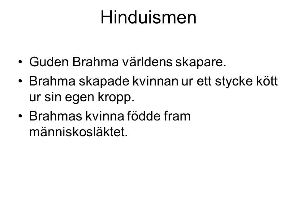 Hinduismen Guden Brahma världens skapare.