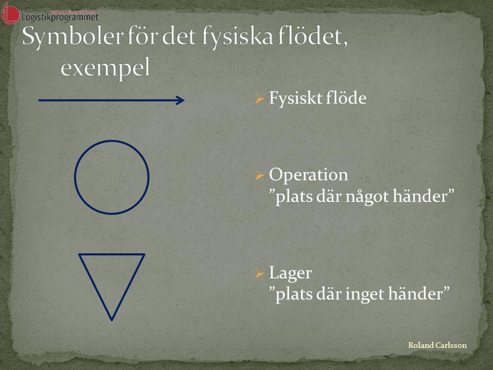 Roland Carlsson  Informationsflöde  Datorsystem  Beslutspunkt