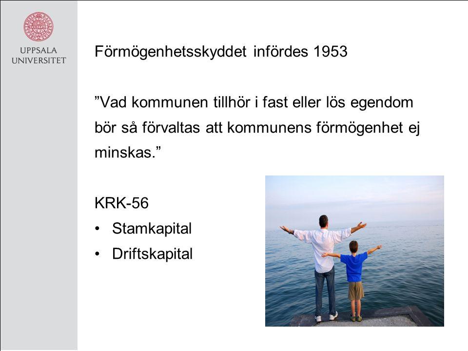 Kf/Lf -86 Övergång till bokföringsmässiga grunder Mindre förmögenhetsfokuserad 1992 togs förmögenhetsskyddet bort: Kommuner och landsting ska ha god ekonomisk hushållning i sin verksamhet …och vad betyder det då?