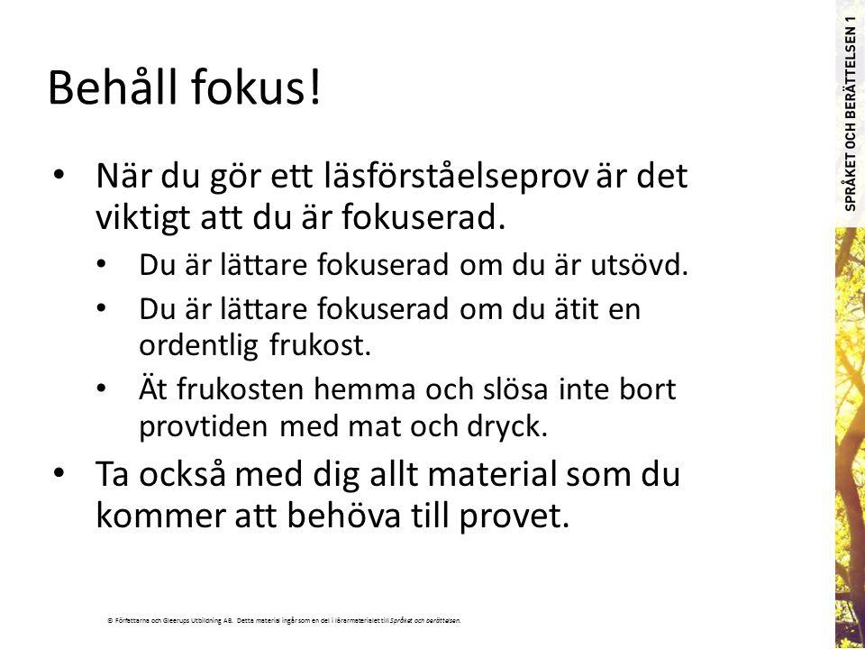 © Författarna och Gleerups Utbildning AB.