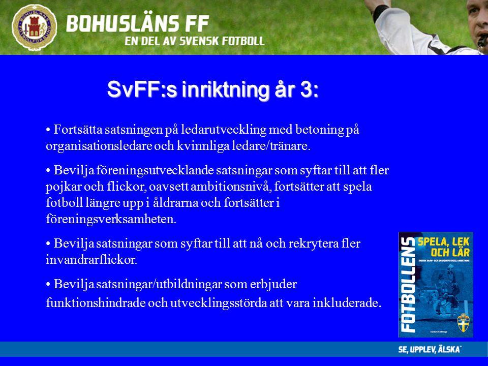 SvFF:s inriktning år 3: Fortsätta satsningen på ledarutveckling med betoning på organisationsledare och kvinnliga ledare/tränare.