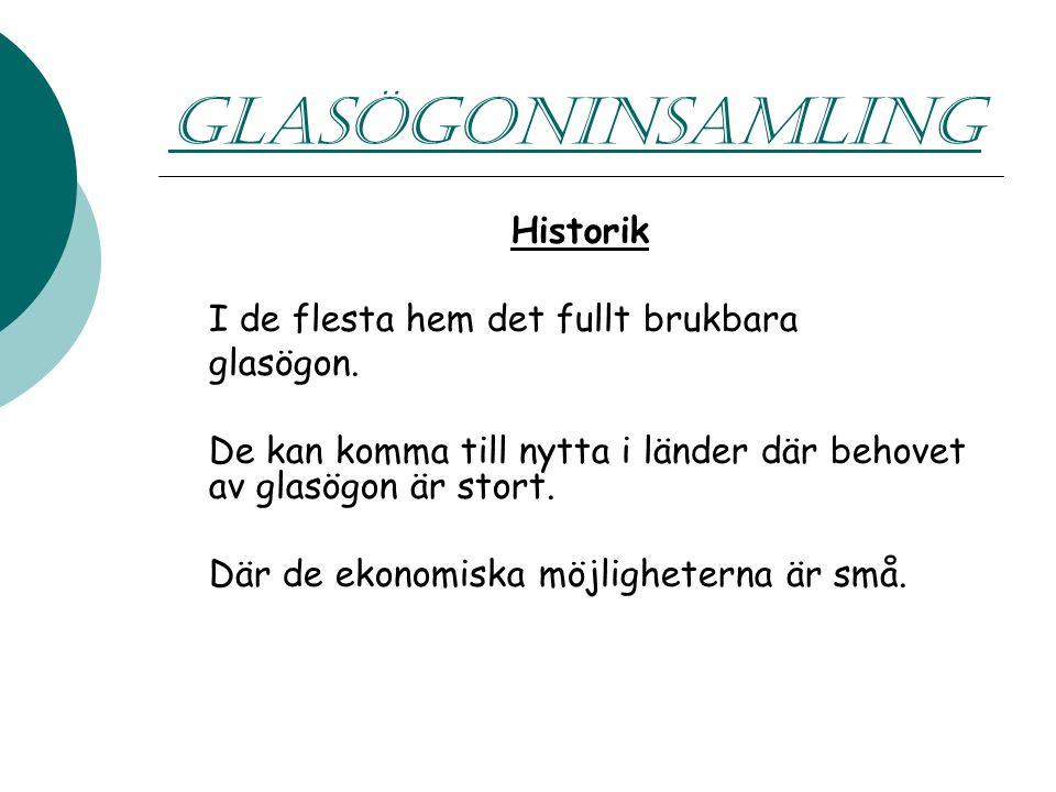 GLASÖGONINSAMLING Skickas till Vision For All John Godoy Kungsbrovägen 32A 590 72 LJUNGSBRO