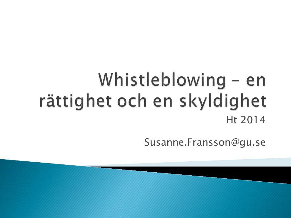 Ht 2014 Susanne.Fransson@gu.se