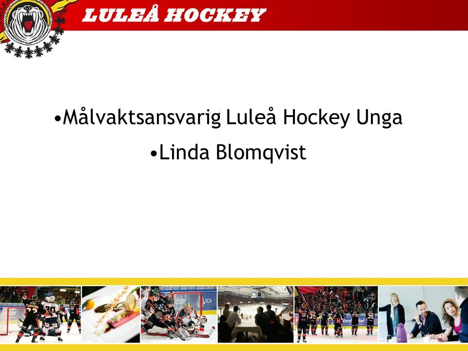 Målvaktsansvarig Luleå Hockey Unga Linda Blomqvist