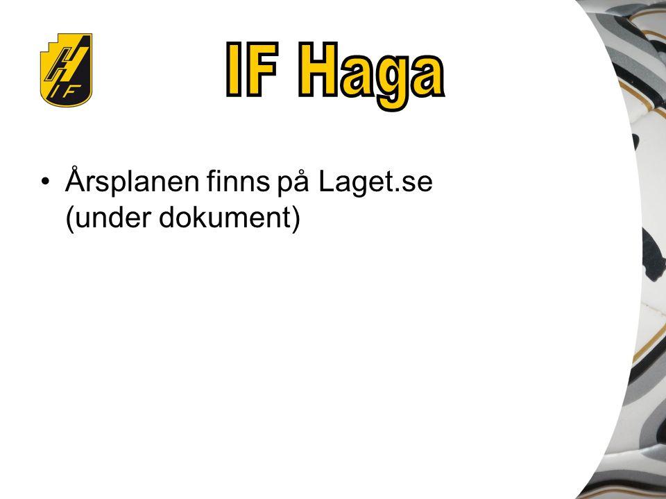 Årsplanen finns på Laget.se (under dokument)