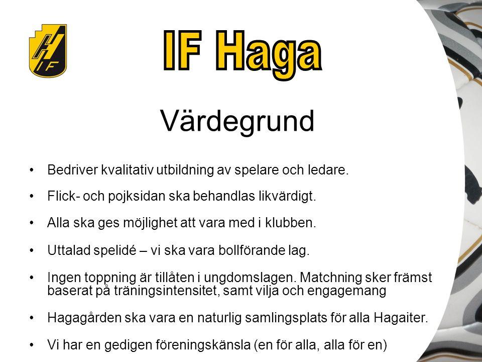 Ekonomi – vad står Haga för –Klubblokal inkl.