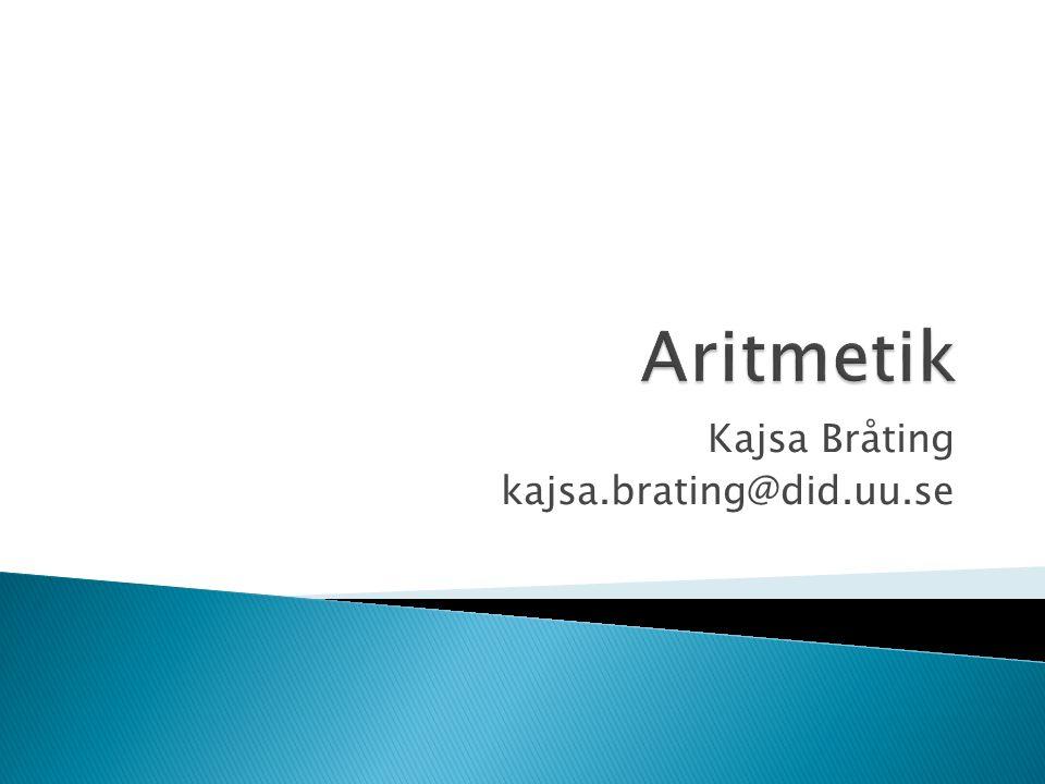 Kajsa Bråting kajsa.brating@did.uu.se