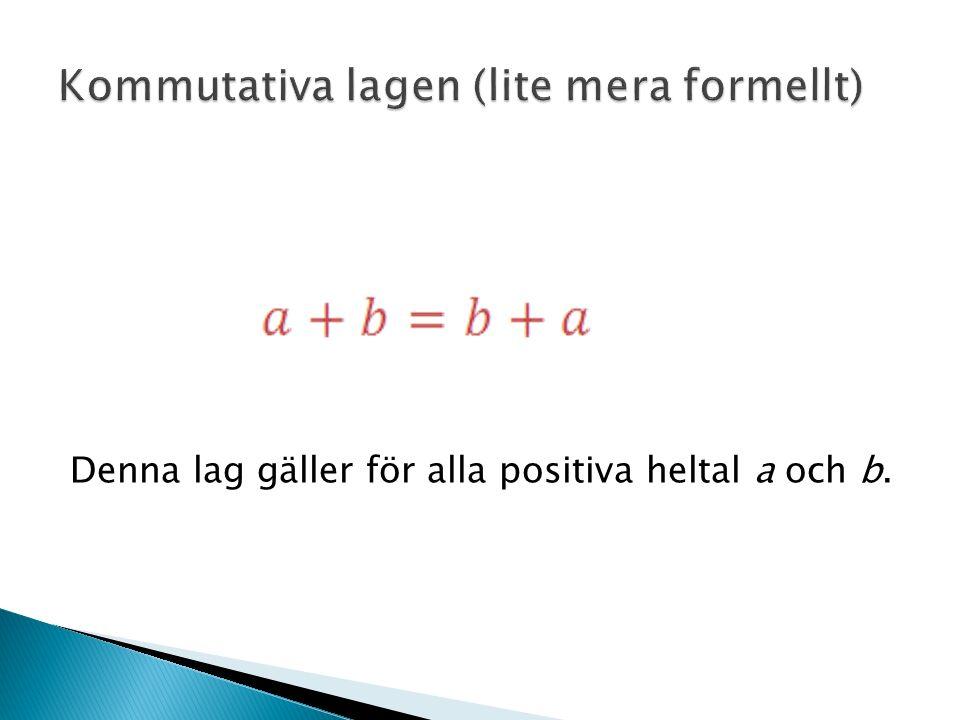 Denna lag gäller för alla positiva heltal a och b.