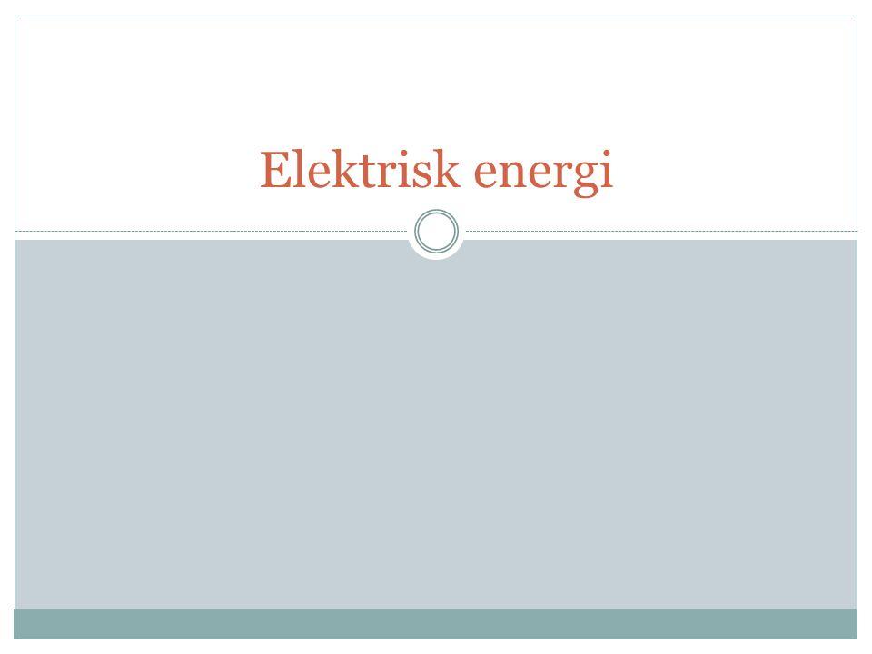 Effektlagen Hur stor effekt en elektrisk apparat har räknar man ut genom att multiplicera spänningen med strömmen.
