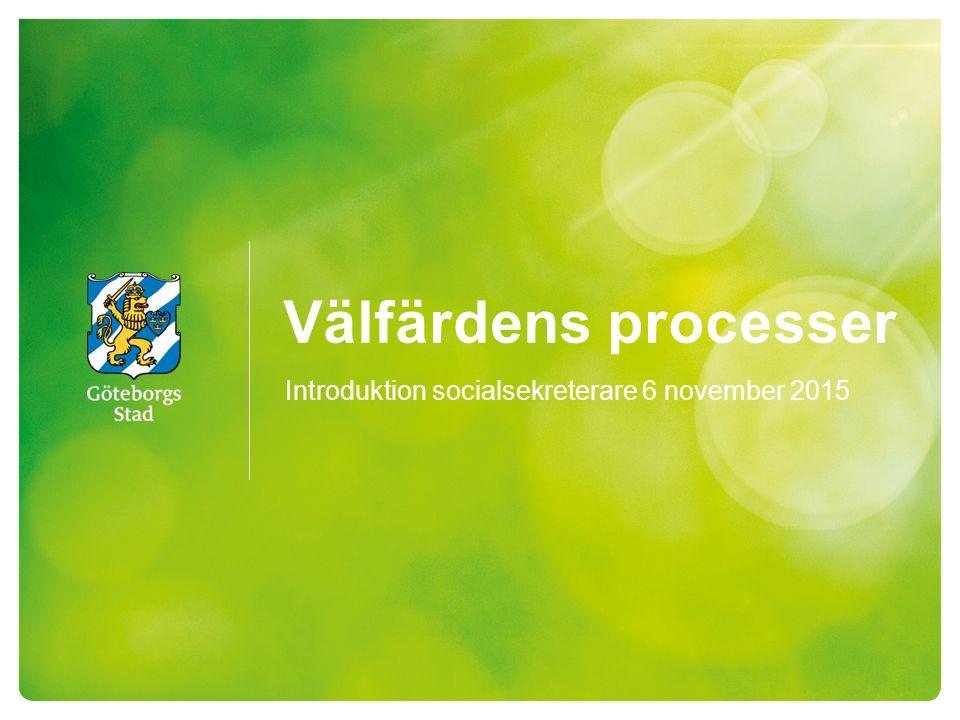 Välfärdens processer Introduktion socialsekreterare 6 november 2015