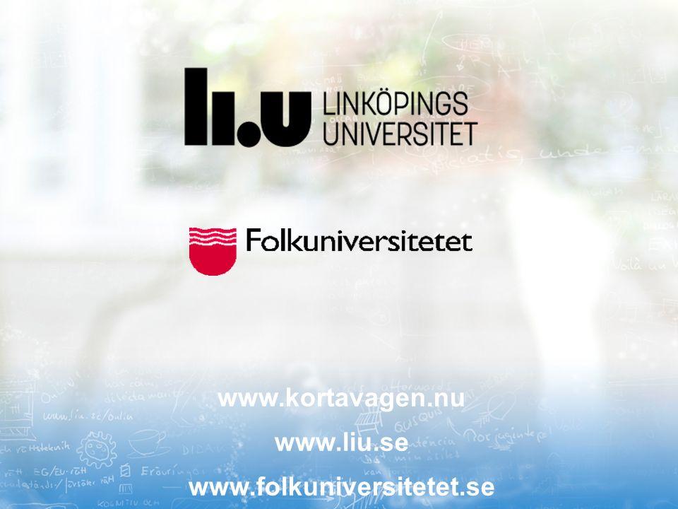 www.kortavagen.nu www.liu.se www.folkuniversitetet.se