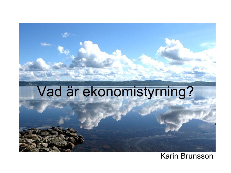 Vad är ekonomistyrning? Karin Brunsson