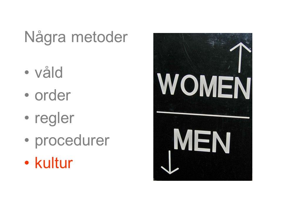 Några metoder våld order regler procedurer kultur