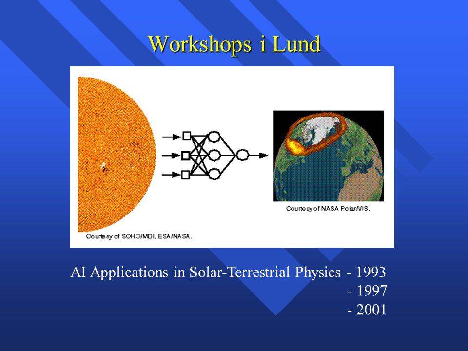 Workshops i Lund AI Applications in Solar-Terrestrial Physics - 1993 - 1997 - 2001
