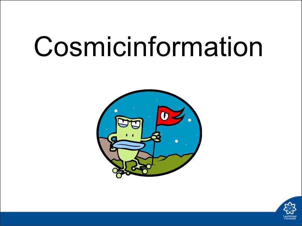 Nyheter i Cosmic - Cosmic R8.0 - SMS-avisering, Cosmic reminders Självbetjäningsstationer på G Klinisk översikt, mottagning Registrera telefonkontakt Revisionsprojekt journalmallar Lathund sökord Fraser, här finns de Använda KVÅ-kod som dokumentation Vem läser journalanteckningarna.