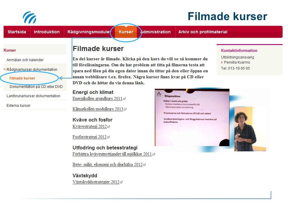 Filmade kurser