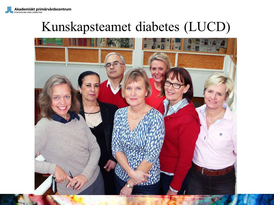 Kunskapsteamet diabetes (LUCD) APC, LUCD, 2016