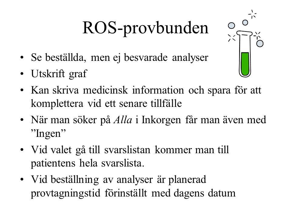 Recept-ordinationsmall Ordinationsmallar skapas på PV-nivå - utgår från REK listan