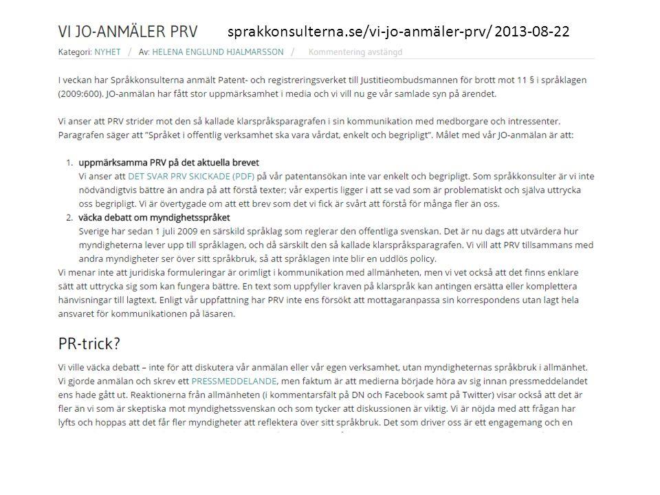 sprakkonsulterna.se/vi-jo-anmäler-prv/ 2013-08-22