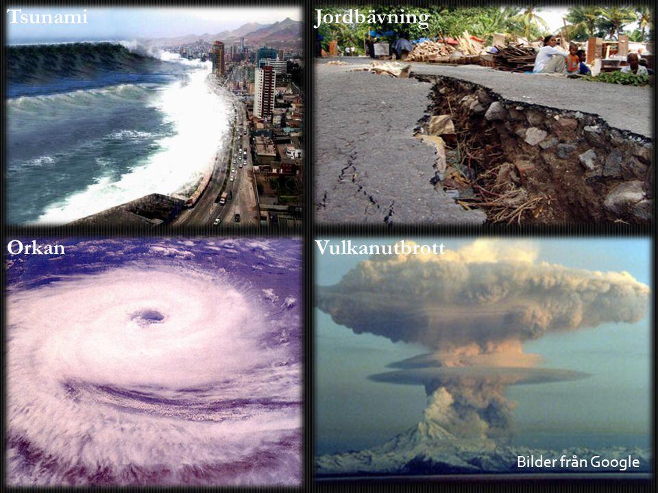 TsunamiJordbävning OrkanVulkanutbrott Bilder från Google