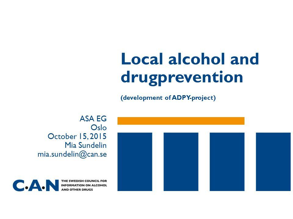 Alcohol Related nursed patients per 1,000 inhabitants 15 +