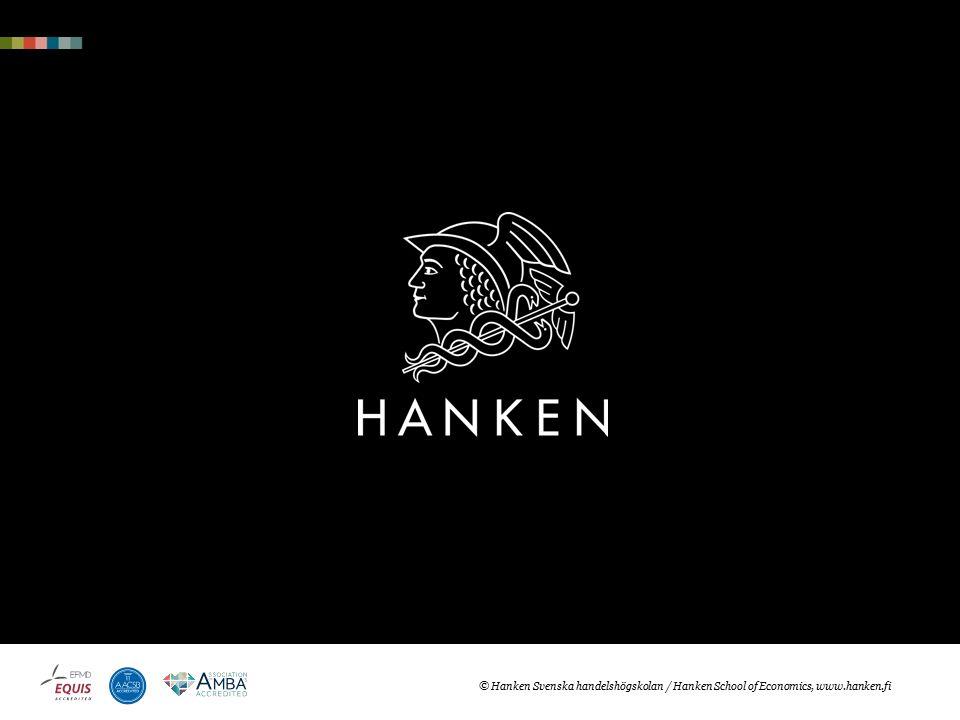 © Hanken Svenska handelshögskolan / Hanken School of Economics, hanken.fi