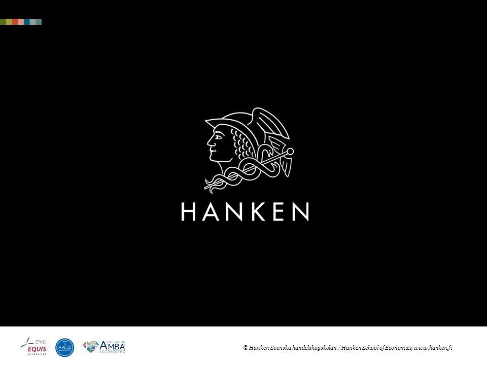 © Hanken Svenska handelshögskolan / Hanken School of Economics, www.hanken.fi