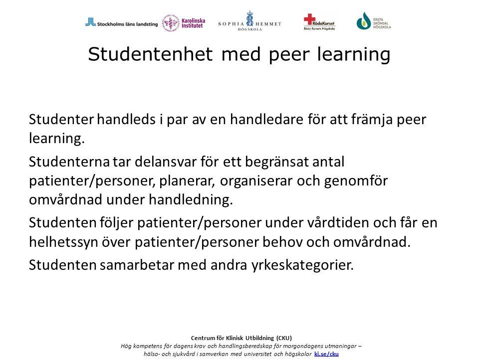 Centrum för Klinisk Utbildning (CKU) Hög kompetens för dagens krav och handlingsberedskap för morgondagens utmaningar – hälso- och sjukvård i samverkan med universitet och högskolor ki.se/ckuki.se/cku Hur gick vi tillväga.